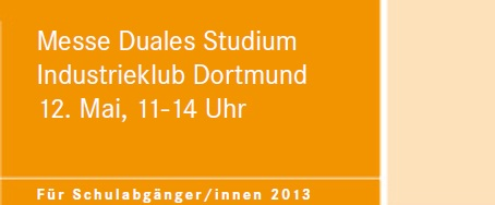messe duales studium in dortmund am 12 mai 2012 von. Black Bedroom Furniture Sets. Home Design Ideas